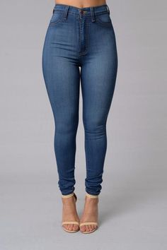 - Available in Plus Sizes! - High Waist - Skinny Jeans - 2 Pockets - Great Stretch - Faux Front Pockets - Made in USA - 49% Sirorayon 32% Cotton 17% Polyester 2% Spandex