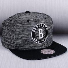 Mitchell   Ness NBA Brooklyn Nets Prime Knit Snapback Cap 70c30ffb2c8