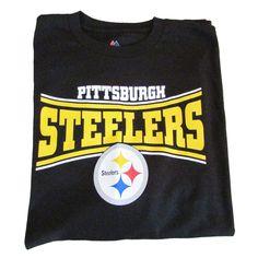 NFL Pittsburgh Steelers Men's Long Sleeve Black T-shirt Size XL 46-48 #Majestic #PittsburghSteelers