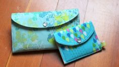 Beginner's Simple Mini-Wallet - PDF Sewing Pattern + Sewing Color Blocking With Corners and Curves