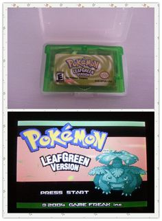 Pokemon games card leafgreen english version for G-BA Game-boy Advance video game console
