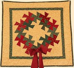Twisted Christmas Wreath Quilt Pattern by Simply Twisted Designs at Creative Quilt Kits