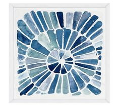 The kids and I could totally paint this and frame in IKEA Ribba  to look like this, only using colors that match our decor.   Indigo Radiant Design Wall Art | Pottery Barn
