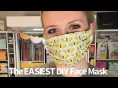 The Easiest DIY Fabric Face Mask Facemask face mask diy Sewing Hacks, Sewing Tutorials, Sewing Crafts, Sewing Projects, Sewing Tips, Easy Face Masks, Diy Face Mask, Mascarilla Diy, Diy Masque