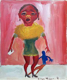 """La morocha 6"", gouache on paper, 22x 28 cm., 1998"