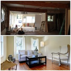 Before & After living  room by Creative Lifestyles LLC