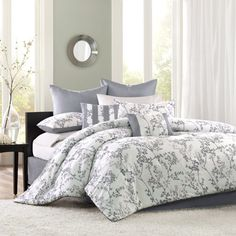 Bedding. I usually stray away from floral-ish print but something about this soaks me in