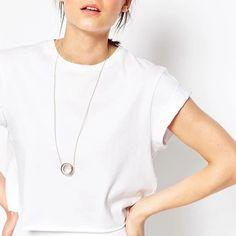 Preorder Minimal double circle necklace Modern and minimal necklace. Jewelry Necklaces