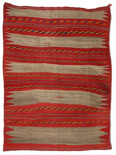 Navajo Transitional Banded Wearing Blanket