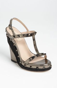 Valentino 'Rockstud' Wedge Sandal available at Nordstrom