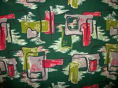 Vintage barkcloth drapes
