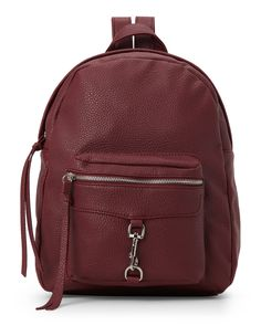 Imoshion Burgundy Clip-Detail Pebbled Backpack