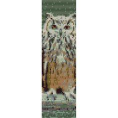 Owl  1 Loom Bead Pattern, Bracelet Cuff, Bookmark, Seed Beading Pattern Miyuki Delica Size 11 Beads - PDF Instant Download by SmartArtsSupply on Etsy