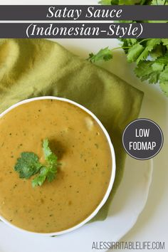 Low FODMAP Satay Sauce {gluten-free, dairy-free} | A Less Irritable Life