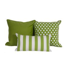 Green & White Throw Pillows in Sunbrella - $675 Est. Retail - $250 on Chairish.com
