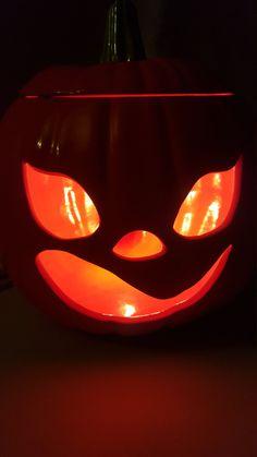 Halloween Pumpkin Jack o Lantern, ceramic decor by TheRecycledGreenRose on Etsy
