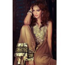 I LUV Designer - Zahra Ahmad Party Wear Formal Dress from Ottoman 2014 Collection £130 - Latest Pakistani Fashion