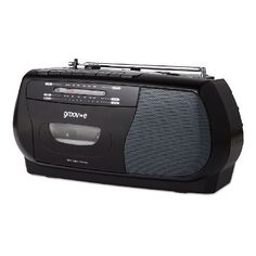Groov-e GVPS575BK The GVPS575BK is a portable cassette player that is available in a stylish black colour. It can be used as either from mains operated or battery operated and will also come with a handy recording func http://www.MightGet.com/may-2017-1/groov-e-gvps575bk.asp