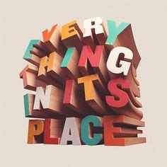 3D Typography :: David McLeod