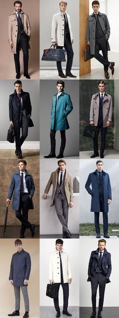 Men's Macs/Trench Coats and Suits Outfit Inspiration Lookbook