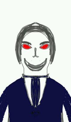 Beady Red Eyed Man