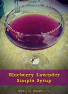 Blueberry Lavender Simple Syrup