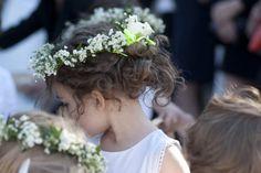 flower girls with flower crowns :) @Derek Smith My Wedding #rockmyspringwedding