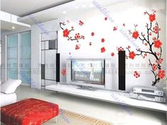 Plum-Butterfly-Blossom-Removable-Wall-Vinyl-Wall-Sticker-Decal-Art-DIY-Home-New