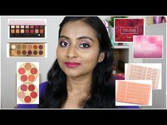 4 Palette Comparisons | Colourpop, She vs Hello, ABH vs Coloured Raine, Tarte Holiday Blush Palettes - YouTube