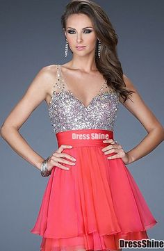 Shop for La Femme prom dresses at PromGirl. Elegant long designer gowns, sexy cocktail dresses, short semi-formal dresses, and party dresses. Prom Party Dresses, Dance Dresses, Homecoming Dresses, Bridesmaid Dresses, Dress Prom, Chiffon Dress, Red Chiffon, Sheer Dress, Pink Dress