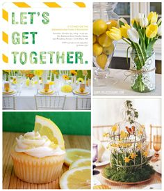 Spring is in the air! Create a festive fete with this spring party inspiration board. #inspiration
