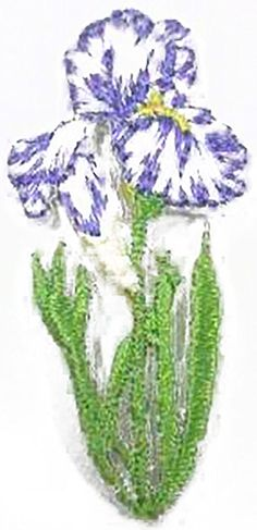 """Amazon.com: [Single Count] Custom and Unique (0.9"""" x 1.8"""" Inch) """"Nature"""" Sweet Spring Blooming Garden Floral Lilac Nature Flower Design Iron On Embroidered Applique Patch {Purple, Green & White Colors}"""