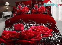 Big Rose and White Floral Print 3D Duvet Cover Sets  Buy link>>>http://urlend.com/EjUjqaZ  Live a better life, start with Beddinginn http://www.beddinginn.com/product/Romantic-Big-Rose-And-White-Floral-Print-3d-Duvet-Cover-Sets-10915781.html