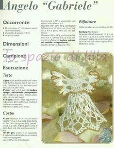 Collezione di angeli all'uncinetto con schemi / Crochet angels collection, free charts Christmas Crochet Patterns, Crochet Christmas Ornaments, Angel Ornaments, Christmas Bells, Felt Christmas, Christmas Angels, Christmas Crafts, Crochet Doily Diagram, Crochet Doilies