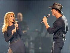 Faith Hill and her husband Tim McGraw on stage as they bring their Soul2Soul World Tour to Canadian Tire Centre on Thursday night.