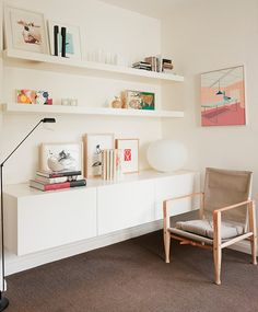 Floating Cabinet and Shelves. F Residence - Shareen Joel Design | Interior Design, Interior Architecture & Industrial Design Melbourne