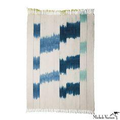 Blue Cotton Area Rug