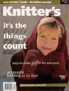Knitters 49 Winter 1997 Holiday Gifts Hat Mittens Socks Slippers Coat VTNS #KnittersMagazine #MagazineBackIssue