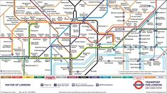 The London Underground network, or the Tube, is a great way to get around London. Grab an Oyster card and tube map and explore London's top attractions Top Attractions In London, London Tube Map, Underground Map, Hawaii Things To Do, Oyster Card, Subway Map, London Look, Travel Maps, Packing Tips For Travel