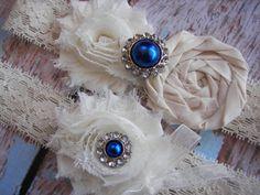 Royal Blue Wedding Garter , Bridal Garter , Garter ,Toss Garter Included