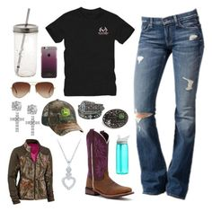 """""""Kinda Been Sick For A Few Weeks"""" by im-a-jeans-and-boots-kinda-girl on Polyvore featuring 7 For All Mankind, Realtree, Laredo, Rayban, Giani Bernini, John Deere, CamelBak and Kate Spade"""