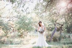 Vista West Ranch Bridal Photo by Jennifer Weems featuring a Martina Liana designer wedding gown