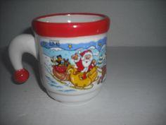 Frohe Weihnachten KossingerAG Schierling # 84069 small stein/mug Santa hat