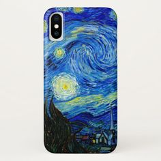 Starry Night by Van Gogh iPhone X Case #popular #art #blue #starry #night #iPhoneXCase. International shipping. #phonecases #iphonecases Vintage Iphone Cases, Art Phone Cases, St Remy, Latest Iphone, Art Case, Popular Art, Vincent Van Gogh, Lovers Art, Vintage Art