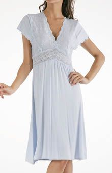 8fe99a1504 Mystique Intimates Bliss Knit Flutter Sleeve Gown Gowns With Sleeves