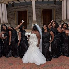 Still looking for the perfect plus size wedding dress? Well, we are back to show you some amazing plus size brides whose looks we've rounded up! Wedding Goals, Wedding Attire, Wedding Bridesmaids, Dream Wedding, Bridesmaid Dresses, Wedding Ideas, Wrap Dresses, Plus Size Bridal Dresses, Plus Size Wedding Gowns