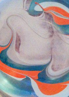 Water marble nail art.