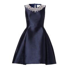 Rental kate spade new york Perfect Era Dress (1,610 PHP) ❤ liked on Polyvore featuring dresses, keyhole dress, blue keyhole dress, blue sleeveless dress, crew neck dress and kate spade
