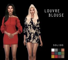 Louvre Blouse at Leo Sims • Sims 4 Updates