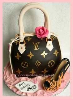 Louis Vuitton inspired Handbag Cake